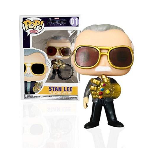 MXD Figuras Pop Stan Lee - Thanos Infinity guantelete Figura Juguetes de colección de la muñeca Adornos 10cm, Multicolor