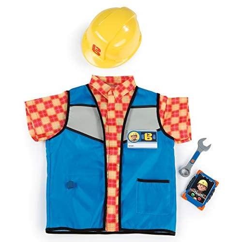 Smoby- Bob Aggiustatutto Gilet con Casco e Accessori, Colore Blu, Taglia Unica, 7600380300