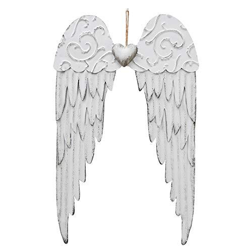 Metal Angel Wings Wall Decor Decorative Angel Wings Wall Art Hanging Angel Wings Wall Sculpture Vintage Angel Wings Decor 17x10.5inch (1)