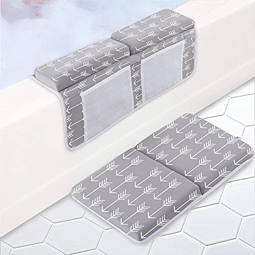 Bath Kneeler with Elbow Rest Pad Set for Baby 1.77 inch Thick Quickly Dry Kneeling Pad Foldable Bathtub Kneeling Mat Arrow