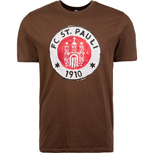 Camiseta del FC St. Pauli,camiseta con logo impreso, color marrón