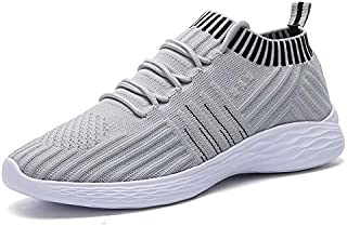 FYXKGLa Large Size Women's Shoes New Women's Student Breathable Sports Shoes Breathable Socks Shoes (Color : Grey, Size : 40EU)