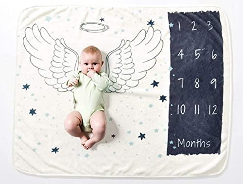 VIVILINEN Bebé Manta Mensual Hito Franela como Fondo Fotográfico para Bebé Recién Nacido...