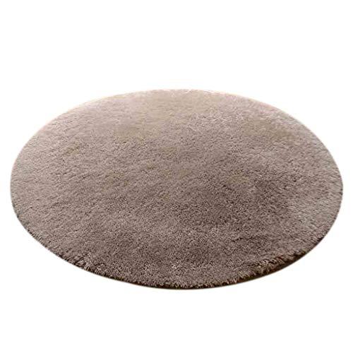 Tapis de qualité Tapis de sol rond gris/chaise d'ordinateur/Tapis de siège de chaise pivotante doux et confortable Carpettes extérieur (taille : Diameter 120cm)