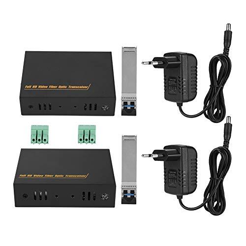 4K HDMI multimode LC glasvezel media converter, video audio media zender, HDMI ontvanger, ondersteunt unidirectionele RS232 transmissie, compatibel met 3D videosignalen (EU plug)