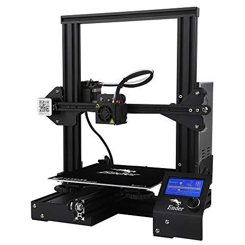 JFCUICAN Imprimante 3D Kits économiques d'Ender DIY d'imprimante d'Ender 3 3D avec la Fonction d'impression de Reprise 220x220x250mm