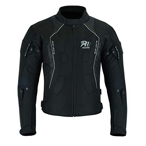 Desconocido Chaqueta deportiva y de invierno para hombre – Moto Racing CE Blindado impermeable para todo tipo de clima, color negro (xl)