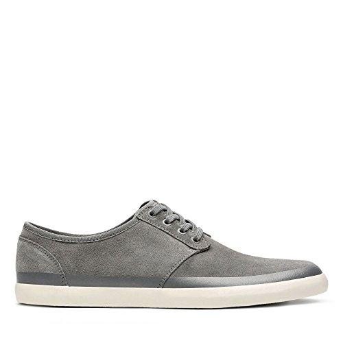 Clarks Herren Torbay Rand Sneaker, Grau (Grey Suede), 41.5 EU