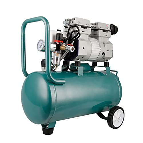 WUK Oil-Free Pump 750W Air Compressor Quiet 68 dB Portable Air Compressor 24L Woodworking Spray Paint Household Tire Inflation with Oil-Water Separator
