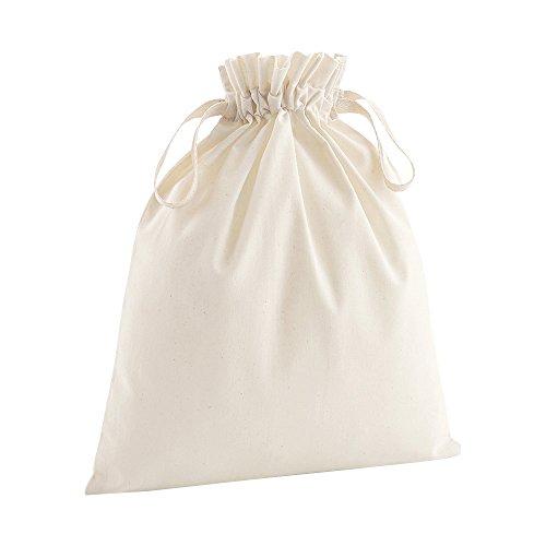 Westford Mill - Bolsa con cordón de algodón orgánico suave (Paquete de 2) (Mediana (M)) (Neutro)