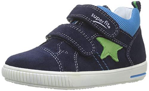 Superfit Baby-Jungen Moppy Sneaker, Blau (Blau 80), 19 EU
