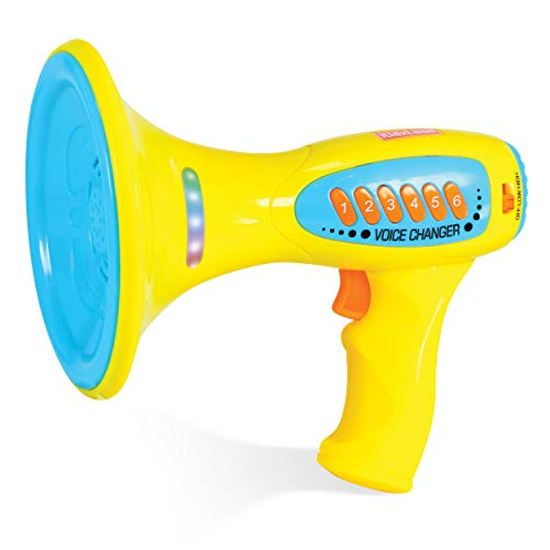 Kidzlane Voice Changer Microphone for Kids | Megaphone Function, LED Lights, and 5 Different Sound Effects | Ideal Gift Toy for Kids & Toddlers Ages 3+