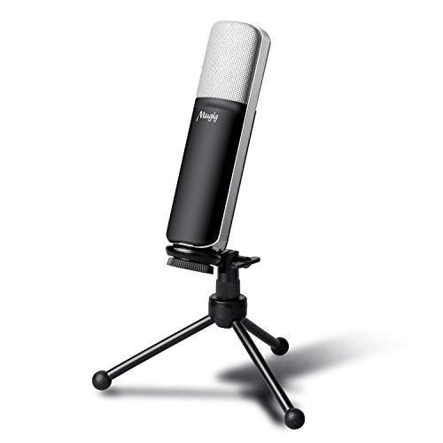 Mugig Microfono USB a Condensatore per PC o MAC, ideale per gaming, registrazione studio e Youtuber include il cavo XLR a USB e il supporto metallo