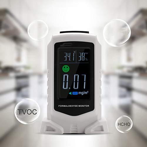 DZSF Haushalt Gasanalysatoren HCHO Temperatur-Feuchtigkeits-Startseite Indoor Air Quality Monitor-Detektor Testing Gasluftüberwachung