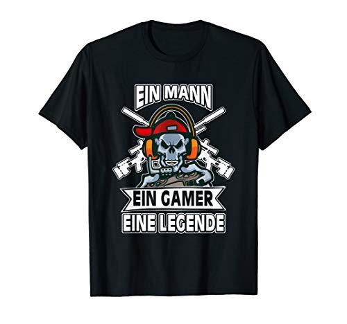 Mann Gamer Legende Weihnachts Geschenk Lustiges Zocker Shirt T-Shirt