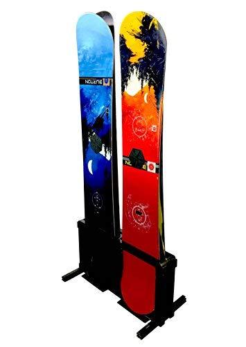 StoreYourBoard Snowboard Storage Rack, Freestanding Snowboard Floor Rack, 4 Boards