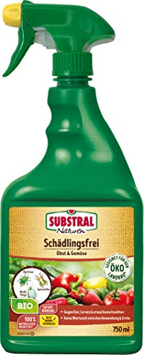 Substral Naturen Bio Schädlingsfrei Obst- & Gemüse, Natürliches Mittel gegen Schädlinge an Pflanzen, 750 ml Flasche