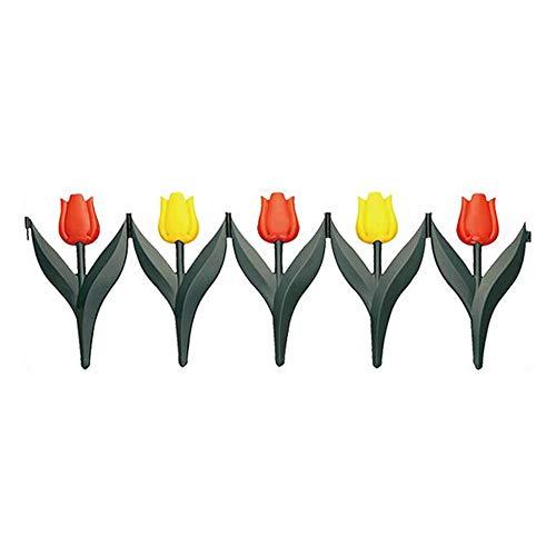 YYFANG Barriere En Bois Clôture Imperméable À L'eau Créative Fleur Papillon Conception Pelouse Communauté Parterre De Fleurs Décoration Protéger Des Plantes, 2 Tailles