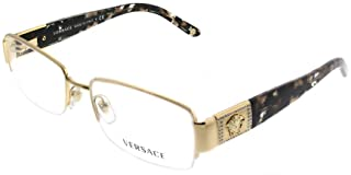 Versace VE 1175B Eyeglasses w/Gold Frame and Non- 53 mm Diameter Lenses,