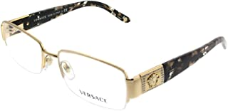 VE 1175B Eyeglasses w/Gold Frame and Non- 53 mm Diameter Lenses,