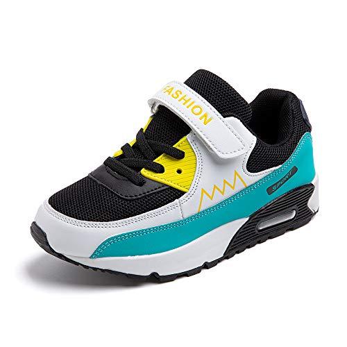 Scarpe da Ginnastica Bambino Ragazze Ragazzo Ragazzi Scarpe Sportive Running Corsa Sneakers Traspiranti Outdoor Indoor Arancione Verde Blu EU 31-38 Blu 37