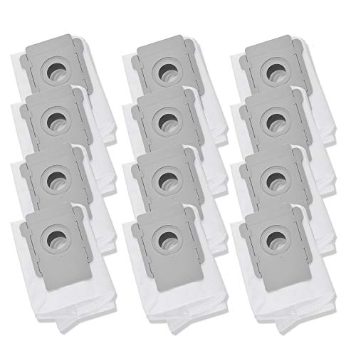 LesinaVac Replacement Vacuum Bags Compatible for iRobot Roomba i & s Series i7(7150), i7+ i7Plus(7550), s9(9150),s9+ s9 Plus (9550) Robot Vacuum Cleaner Base Automatic Dirt Disposal Bags, 12 Pack