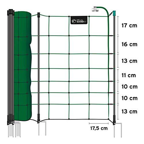 VOSS.farming 50m Elektrozaun-Netz, tannengrün, Euro, 90cm, 20 Pfähle Weidezaunnetz Elektrozaun Weidezaun grün - 2
