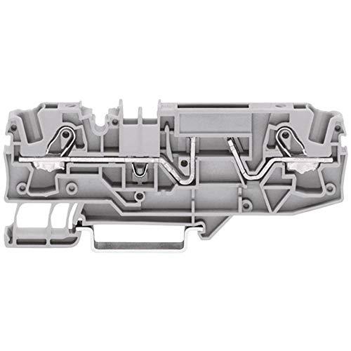 WAGO 2002-1681 Sicherungsklemme 5.20 mm Zugfeder Belegung: L Grau 1 St.