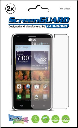 2x LG Mach Cayenne LS860 Sprint Premium Clear LCD Screen Protector Kit, Exact fit, no cutting. (2 pieces by GUARMOR)