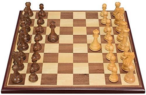 ZOUJUN Magnetic Schachspiel, Schach Hand Crafted Kirschholz Schach und Entwürfe Set 44 x 44 Zentimeter for Erwachsene und Kinder