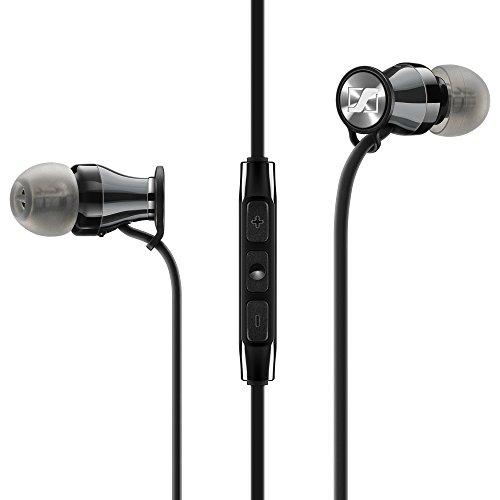 Sennheiser Momentum - Auriculares (Alámbrico, Dentro de oído, Binaural, Intraaural, 15-22000 Hz, Negro, Rojo)