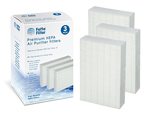 Fette Filter - 3 Pack of Premium True HEPA Filters Compatible with Honeywell Filter R for Air Purifier Series HPA090, HPA100, HPA200, HPA250 & HPA300 Compatible with Filter R HRF-R3 HRF-R2 HRF-R1