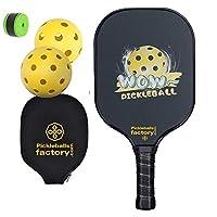 Pickleball Paddles, Pickleball Set, Pickleball Paddle, Pickleball Balls, Pickleball, Pickle Ball Game Set, WOW FUN Pickleballs, Pickle Ball Racquet, raquet
