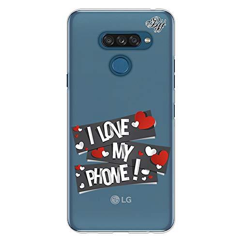 BJJ SHOP Transparent Slim Hülle für [ LG K50s ], Klar Flexible Silikonhülle, Design : Ich Liebe Mein Handy