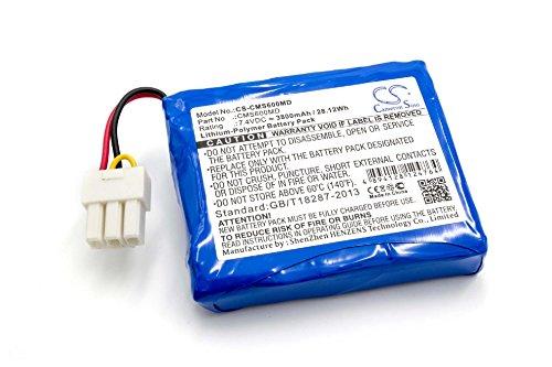 vhbw Batería reemplaza Contec CMS600MD para tecnología médica como sistema de monitoreo (3800mAh, 7,4V, polímero de litio)