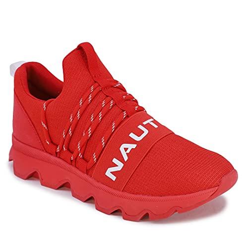 Nautica Women Fashion Slip-On Sneaker Jogger Comfort Running Shoes-Kora-Red-7.5