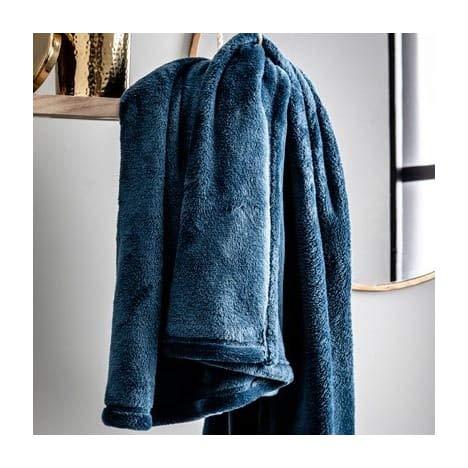 TODAY Polar Blue Couvertures et Plaids, Bleu, 125x150cm
