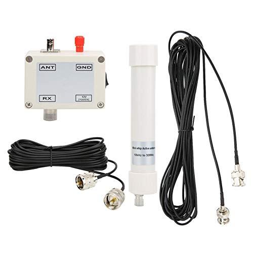 Aktivantenne, Aktivantenne Mini Whip HF LF VHF SDR RX 10 KHz-30 MHz 12-15 V, BNC, Koaxialkabel 50-100 Ohm, Bis zu 100 Meter, Weiter Frequenzbereich, Klasse-A-Schaltung
