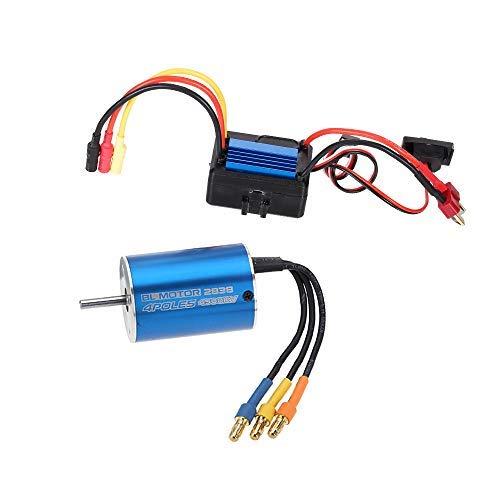 GoolRC 2838 4500KV 4P Sensorless Brushless Motor & 35A Brushless ESC Electronic Speed Controller for 1/14 1/16 1/18 RC Car
