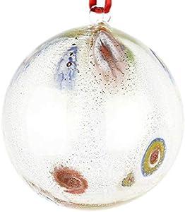 Bola de Navidad transparente Millefiori Fantasy – Cristal de Murano Navidad