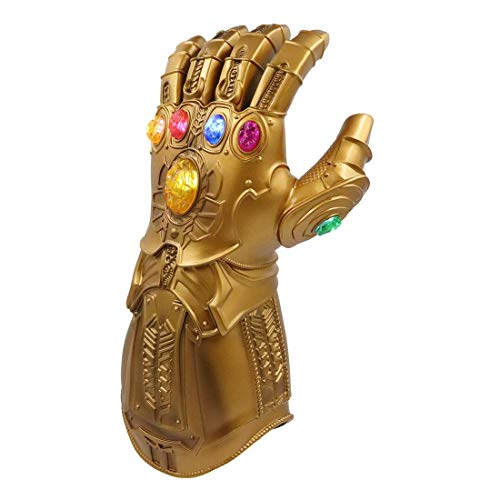 Kids LED Light Up Glove Thanos Gauntlet Props for Halloween Cosplay (Kids Size)