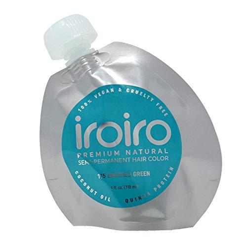 Iroiro Premium Natural Semi-permanenten Haar Farbe 115Iro-Smaragd Grün (8oz)