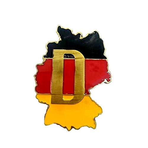 Imán para nevera con diseño de mapa de Alemania, 3D, de metal, para decoración del hogar y la cocina, imán magnético para nevera