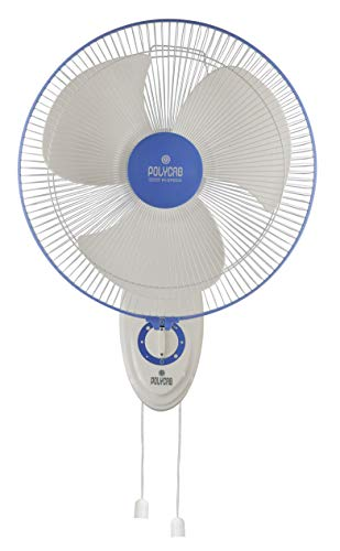 Polycab® Thunderstorm 400mm High Speed Wall Fan 2000 R.P.M.    100% Copper Motor    2 Years Guarantee    In-Built Thermal Over Load Protector    48 Hrs Service Guarantee (blue)