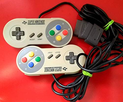 Set: 2x ORIGINAL Super Nintendo Controller SNES Pad / Joypad / Gamepad / Control Pad / (in B-Zustand, gebraucht und können vergilbt sein)