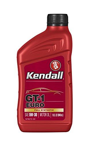 Kendall 1078251 Euro Motor (GT-1 Full Synthetic Oil 5W30-1 Quart), 32 fl. oz, 1 Pack