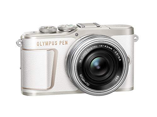 PEN E-PL10 Shiro White Camera Body with Black M.Zuiko Digital 14-42mm F3.5-5.6 EZ Lens