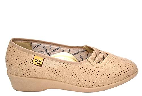 DOCTOR CUTILLAS 6431 Ancho Especial Zapato para Mujer SALÓN ELÁSTICOS Beige 23050-38