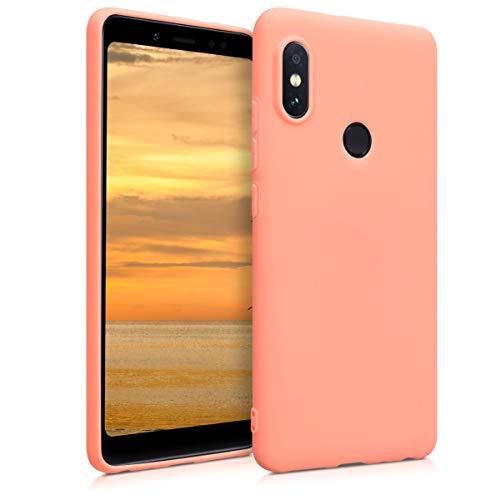 kwmobile Funda Compatible con Xiaomi Redmi Note 5 (Global Version) / Note 5 Pro - Carcasa de TPU Silicona - Protector Trasero en Coral Mate