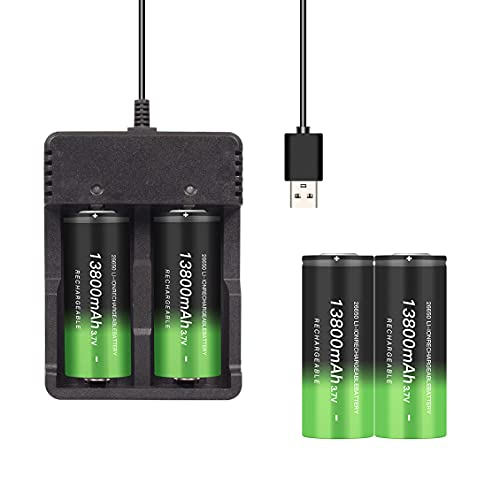 26650 battery set. 1X universal battery charger + 2X26650 battery. The rechargeable battery model of...